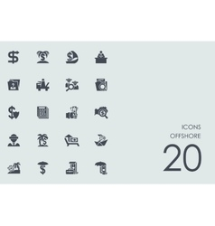 Set produced overseas icons vector