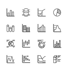simple icon set charts and diagrams contains such vector image