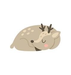 sleeping deer vector image