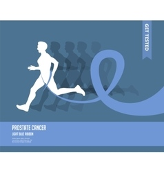 Sport Woman And Man with Running Pink and Blue vector image