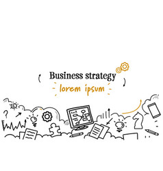 successful business strategy concept sketch doodle vector image