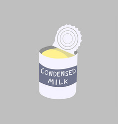 Sweetened condensed milk canned vector