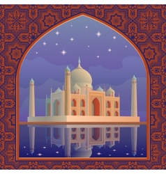 Taj postcard vector