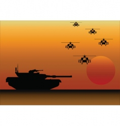 tank helicopters vector image