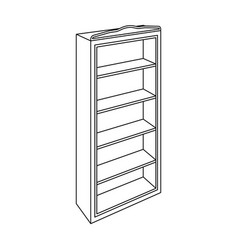 The little bookcasehome librarybooks to read vector
