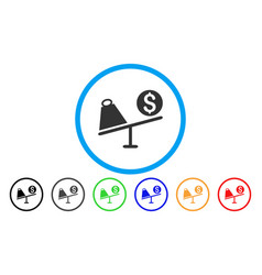 Trade swing rounded icon vector