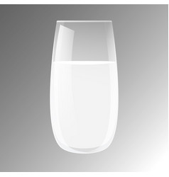 transparent realistic glass beaker with liquid vector image