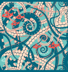 twisting tentacles of an octopus vector image