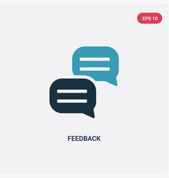two color feedback icon from social media vector image