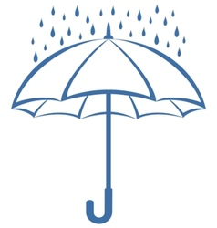 umbrella and rain vector image