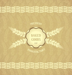 Vintage design emblem for baked goods vector