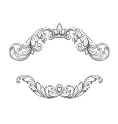 Vintage label frame design elements vector image