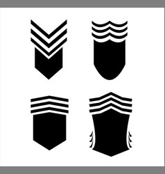 vintage retro logo shield for banner vector image