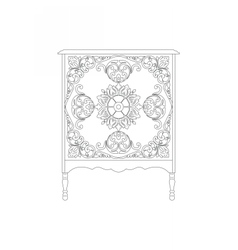 Vintage Rich Commode Table vector