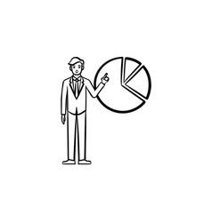 web company hand drawn sketch icon vector image