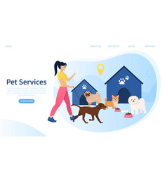 web page template for services vector image
