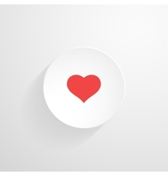 white round button Heart icon vector image