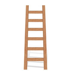 wooden ladder vector image