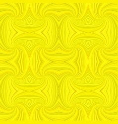 yellow seamless psychedelic geometrcial spiral vector image