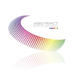 Abstract colorful swirl shape vector image
