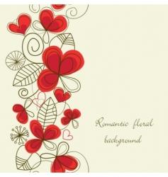flower love pattern vector image