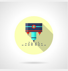 industrial laser flat round icon vector image vector image