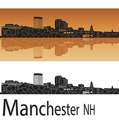 Manchester skyline in orange vector image vector image