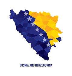 Map of Bosnia Herzegovina vector image vector image