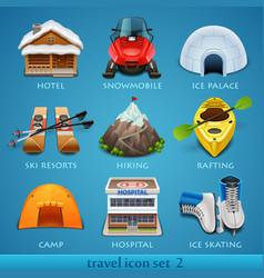 travel icon set-2 vector image