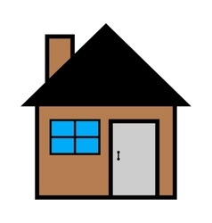 cool house icon isolated on vector image