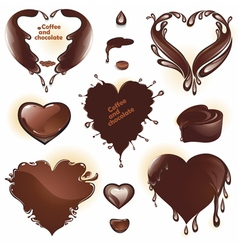 Drops and splashes in the shape of a heart vector image vector image