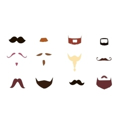 Mustache silhouette isolated vector