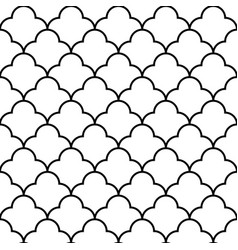 scales geometric seamless pattern background vector image