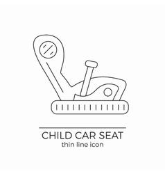 Child car seat thin line flat icon vector image