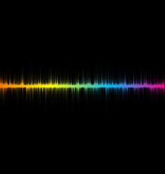 halftone sound wave design vector image