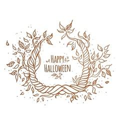 Hallowen trees vector image vector image