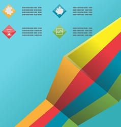 Line Color Info Graphic Template vector image vector image