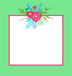 poster with flowers and leaves vector image