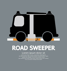 Road Sweeper Car vector image vector image
