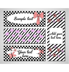 Set of creative universal cards Wedding vector image