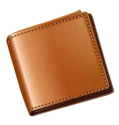 A topview of a brown wallet vector image