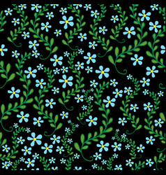 field wild flowers seamless floral pattern vector image vector image