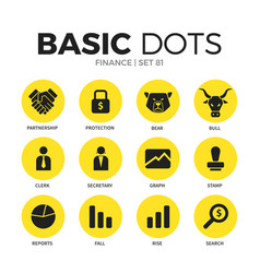 finance flat icons set vector image