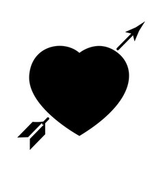 heart with arrow - love icon vector image