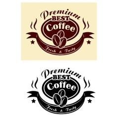 Premium coffee banner vector image vector image