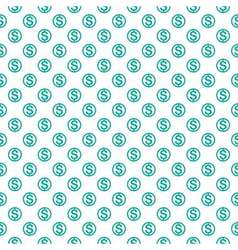 Seamless pattern with dollar sign Repeating vector image