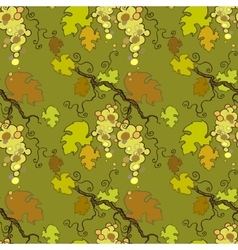 Seamless pattern with white grape vector image vector image