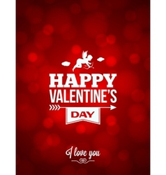 Valentines day red light background vector