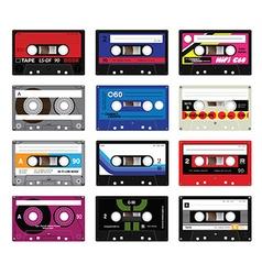 Vintage cassette tapes vol 5 vector image