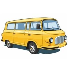 Yellow van vector image